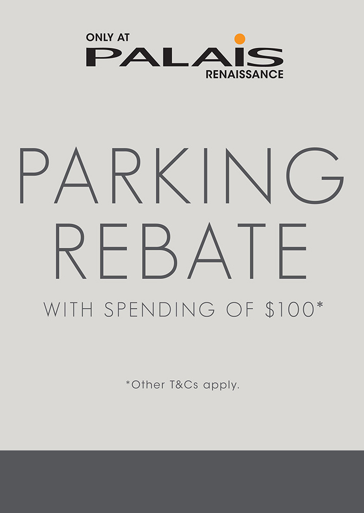 PARKING REBATE WITH SPENDING OF $100*