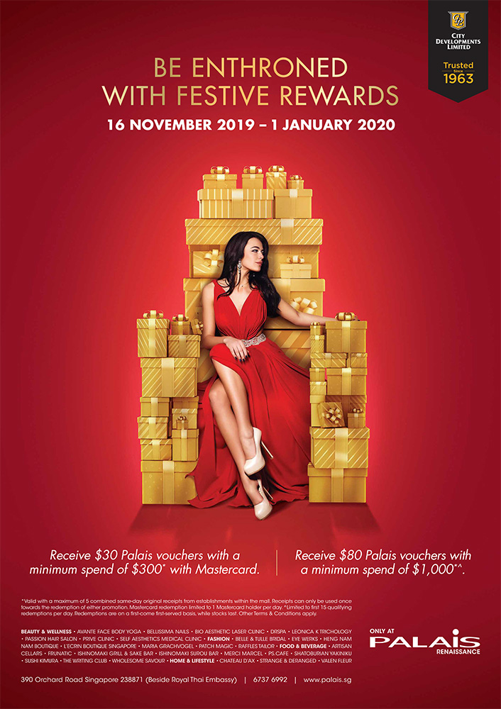 Be Enthroned with Festive Rewards from 16 Nov 2019 – 1 Jan 2020